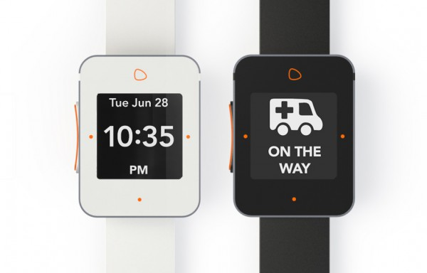 Lively produces a senior-specific smartwatch, which has a large button to make emergency calls.