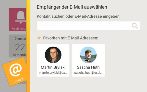 Ein Screenshot der neuen E-Mail-App.