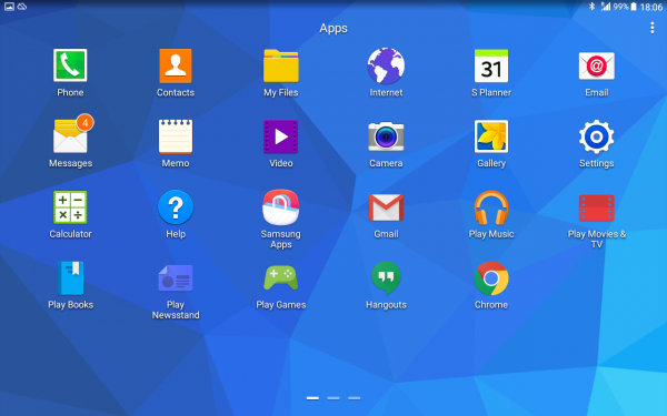 The Android 5.0 software comes with a range of pre-installed apps. Many of them will be useful for seniors, but the software could have been personalized with even more useful apps. Some apps may also cause confusion for seniors: What is the difference between 'Email' and 'Gmail'?, What is the difference between 'Play Movies & TV' and 'Video'?, Sure I can *play* a game, but what does *play* a newsstand mean?