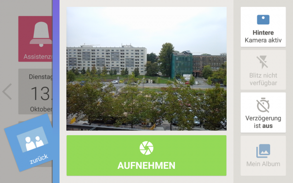 The icons in the Asina camera app may not be self-explanatory for everyone, but at least they have clear labels.